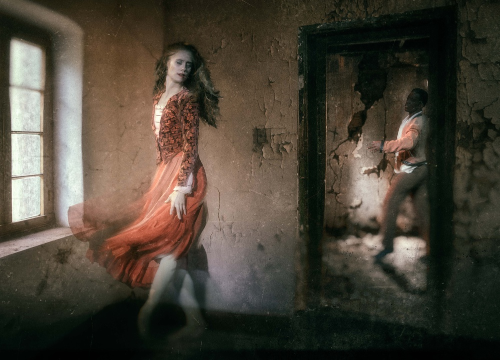 A piece of fine art art photography titled In This Darkness Which You Know You Cannot Fight by Charlaine Gerber