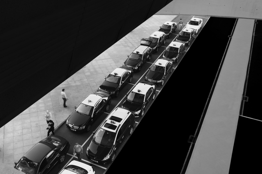 A piece of fine art art photography titled Waiting Lines by Paulo Abrantes