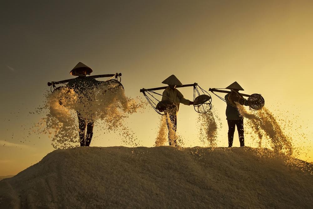 A piece of fine art art photography titled Salt by Nese Ari