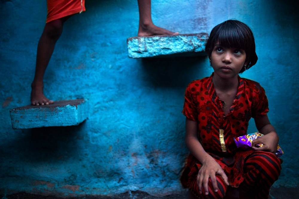 A piece of fine art art photography titled Blue Village by Alessandro Bergamini