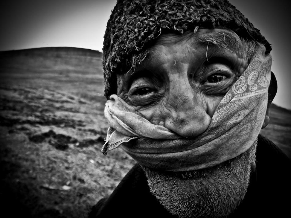 A piece of fine art art photography titled Grandfather by Sergiu Cioban