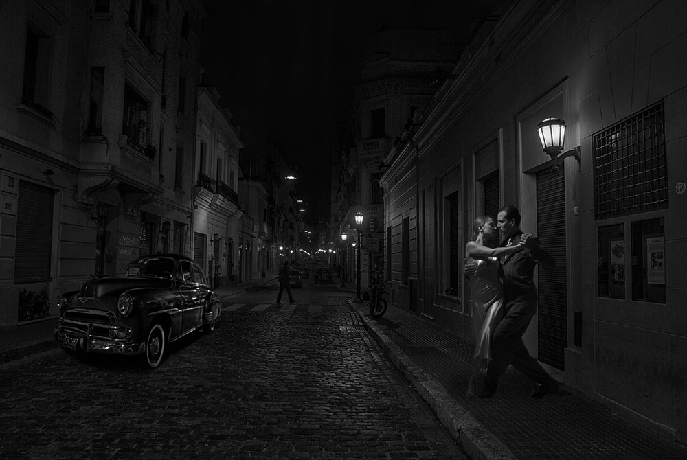 A piece of fine art art photography titled San Telmo Tango´s Town by Hans Wolfgang Müller