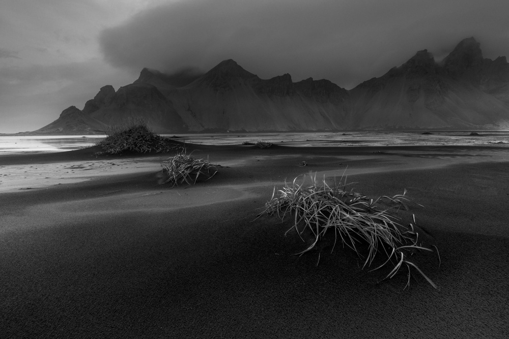 A piece of fine art art photography titled Stokksnes by Antonio Aliaga Ibarra