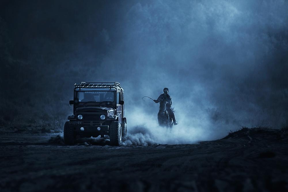 A piece of fine art art photography titled Hard Race by Faqih Akbar