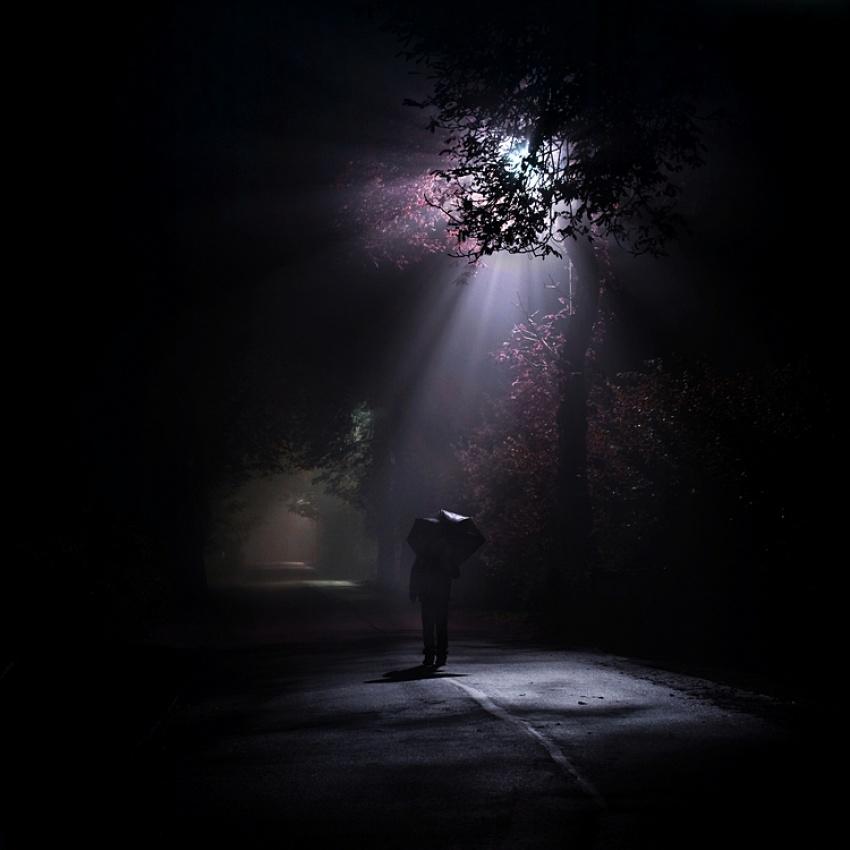 A piece of fine art art photography titled Light and Darkness by Leszek Bujnowski