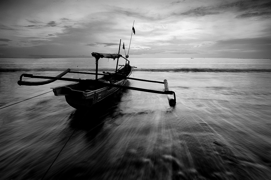 A piece of fine art art photography titled The Boat by rendy sunardi