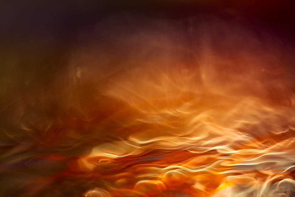 A piece of fine art art photography titled Burning Water by Willy Marthinussen