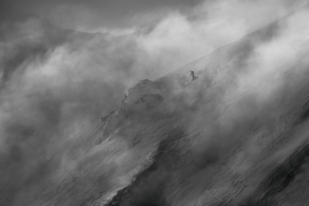 A piece of fine art art photography titled Faster Than Clouds by Peter Svoboda MQEP