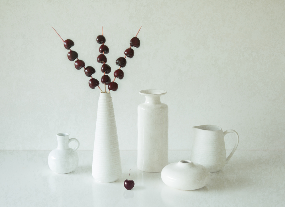 A piece of fine art art photography titled Cherries by Jacqueline Hammer