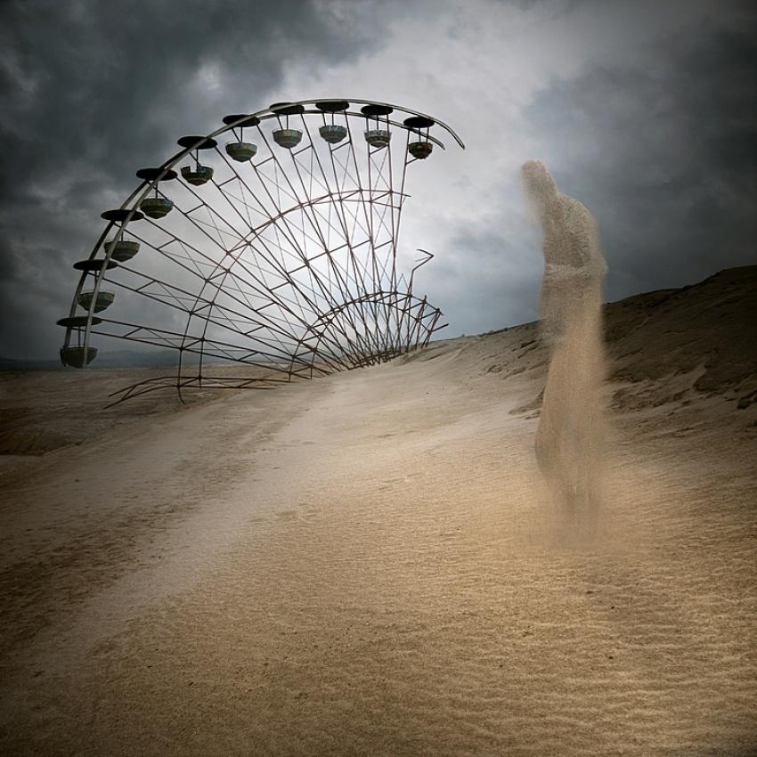 A piece of fine art art photography titled   Only Sand Remains by Leszek Bujnowski