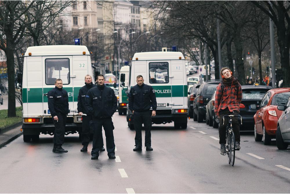 A piece of fine art art photography titled Berlin Mild Anarchism by Saber Adavi