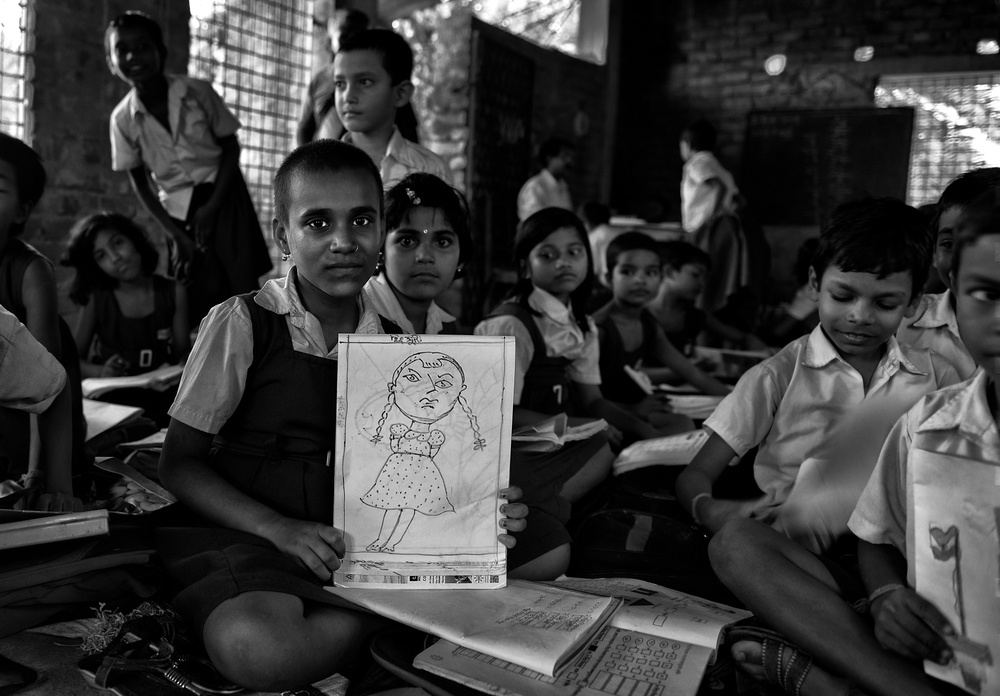 A piece of fine art art photography titled Kanyashree by Avishek Das