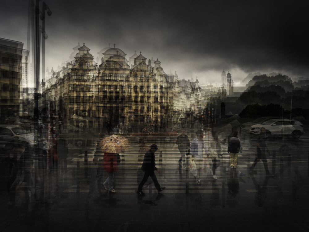 A piece of fine art art photography titled Brussels After the Rain by Thomas Vanoost