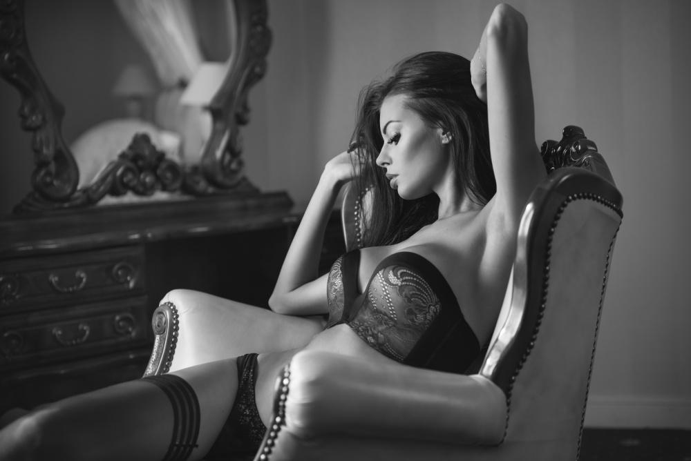...her lingerie