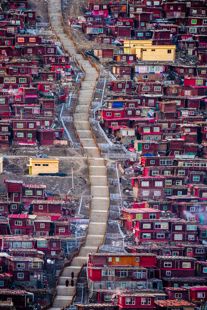 View this piece of fine art photography titled Red Houses by MIN LI