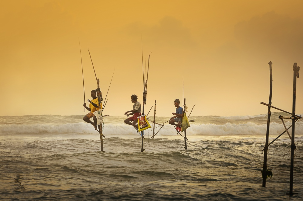 A piece of fine art art photography titled Traditional Fishing by Vinaya Mohan