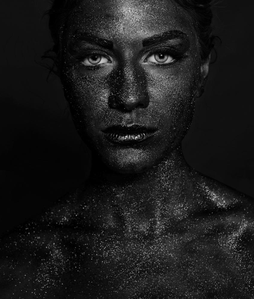 A piece of fine art art photography titled Black Face by Sajedah Al-Asfoor