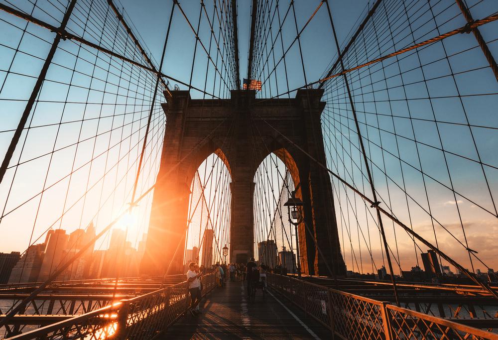 A piece of fine art art photography titled Brooklin Bridge! by Javier del Cerro