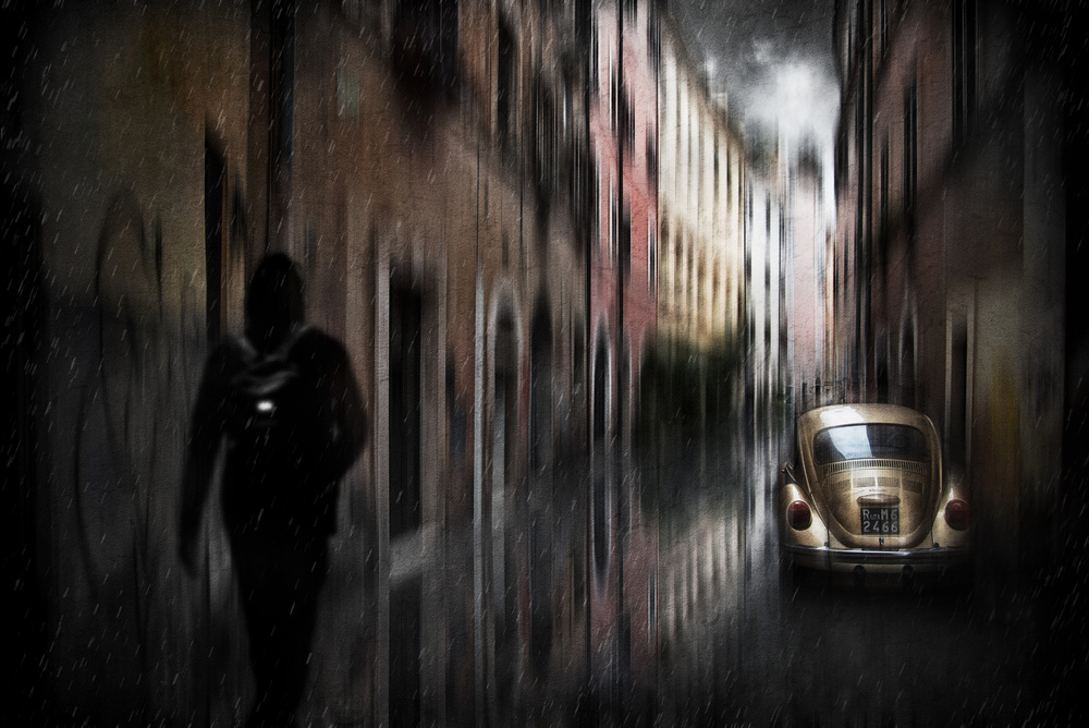 A piece of fine art art photography titled Cars In the Historic Center by Nicodemo Quaglia
