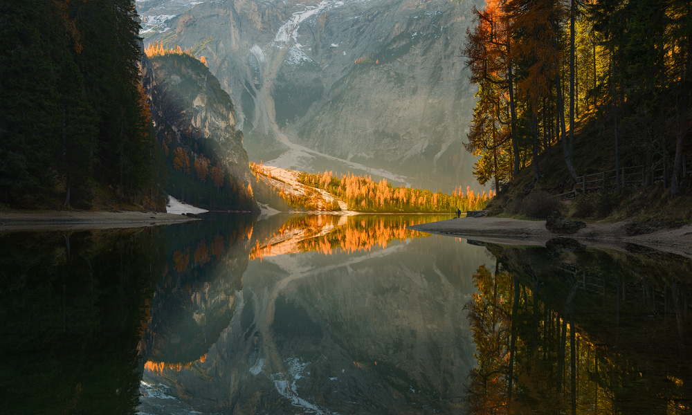 A piece of fine art art photography titled Appointment With Reflection by Pawel Kucharski