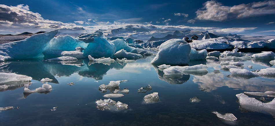 A piece of fine art art photography titled Ice Land by Henrik Spranz