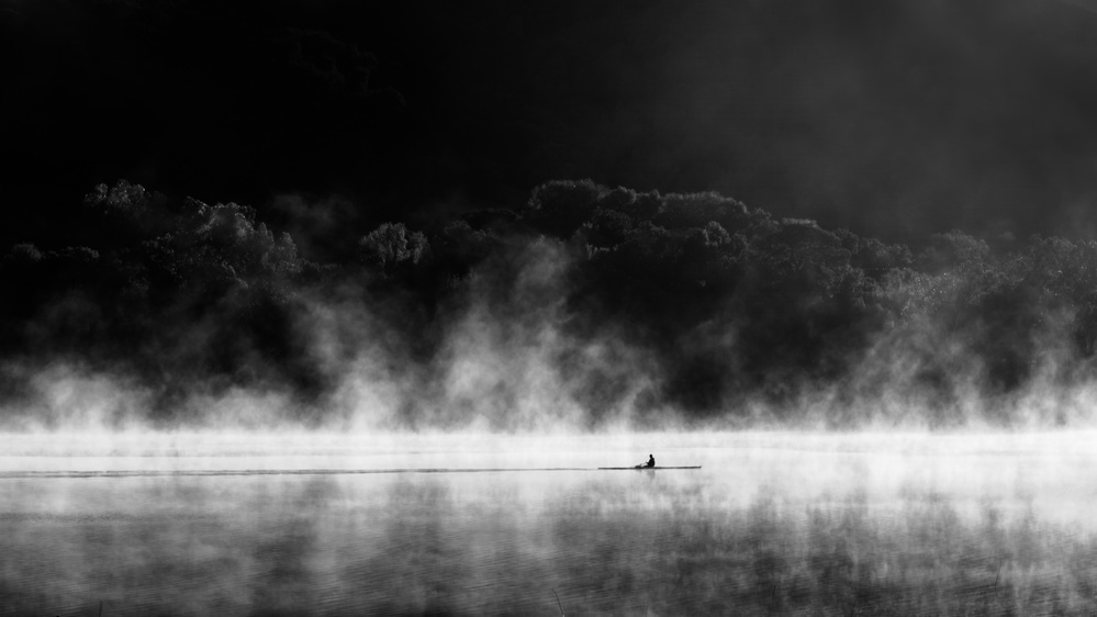 A piece of fine art art photography titled Morning On the Lake by Xu Dong