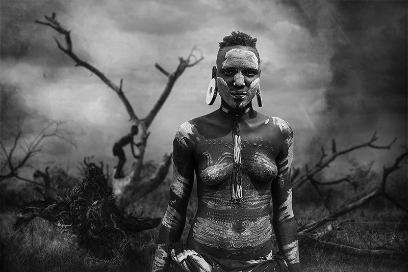 A piece of fine art art photography titled Mago Mursi Teen by Svetlin Yosifov