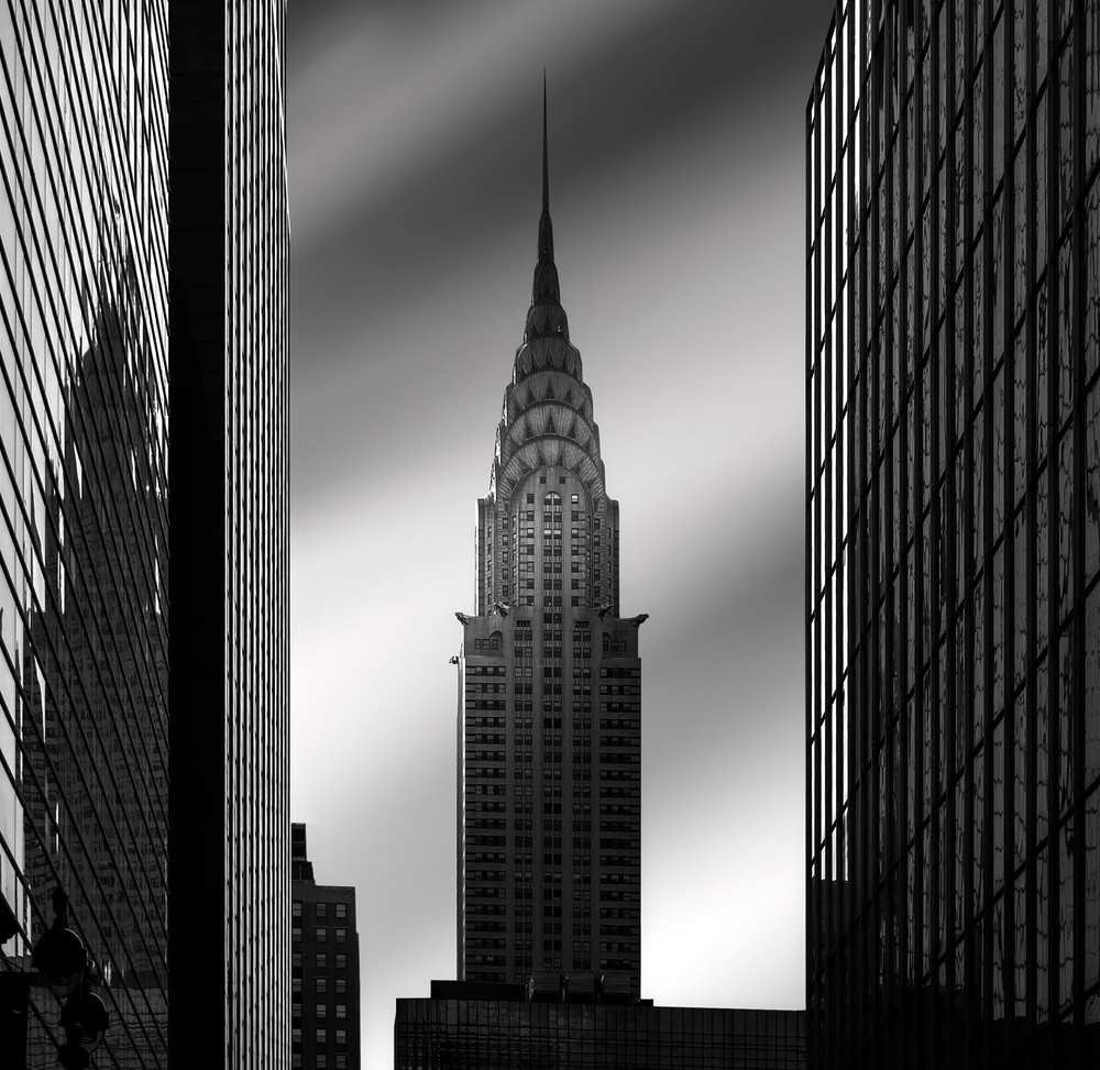 A piece of fine art art photography titled The Chrysler Building by Louis-Philippe Provost