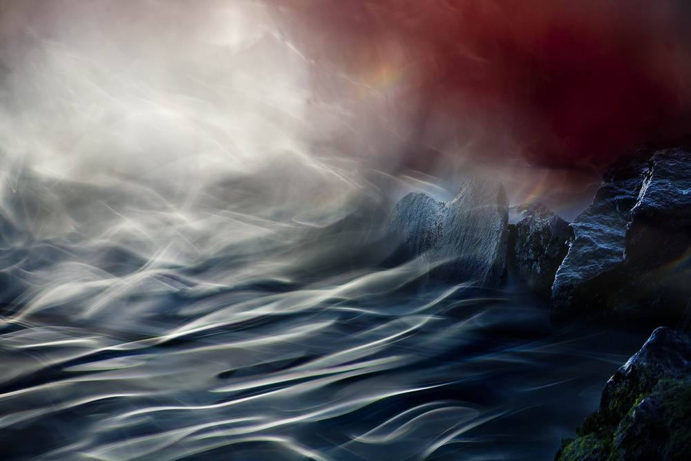 A piece of fine art art photography titled Stream by Willy Marthinussen