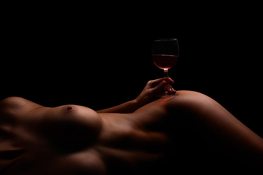 A piece of fine art art photography titled Delicious Wine by Kristian Liebrand