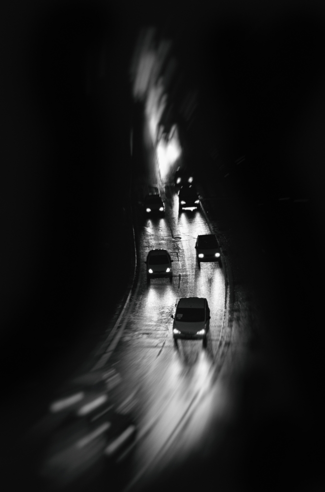 A piece of fine art art photography titled Night Rush by Linda Blazic-Mirosevic