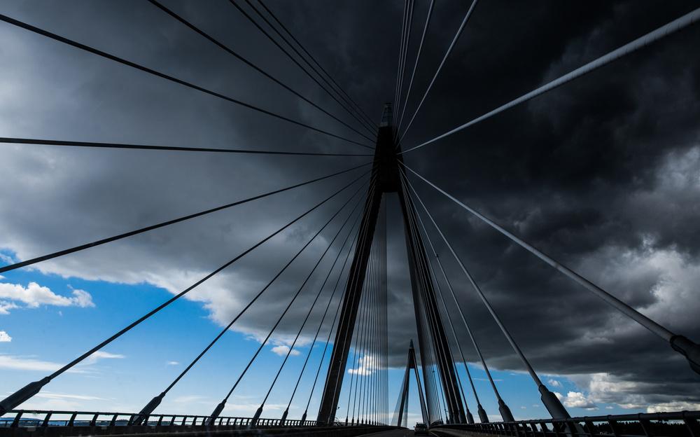 Bridge under troubled skies