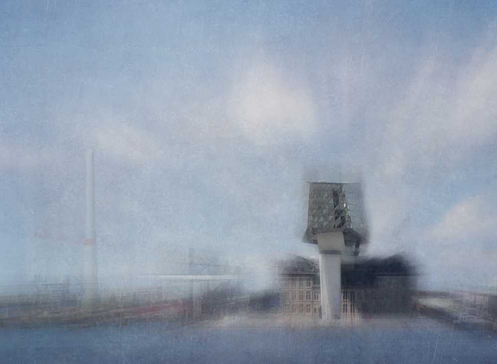 A piece of fine art art photography titled Cityscape Fantasy by Greetje van Son