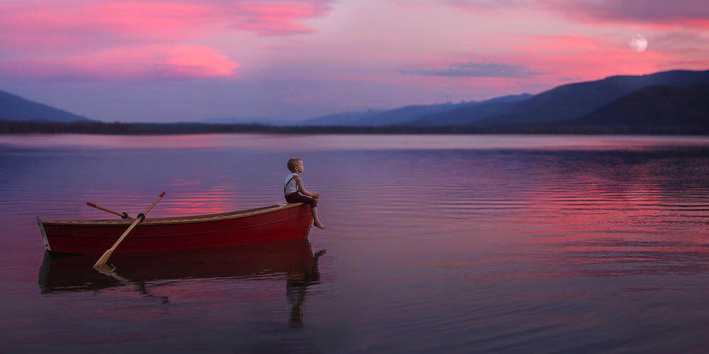 A piece of fine art art photography titled Peaceful Waters by Lisa Holloway