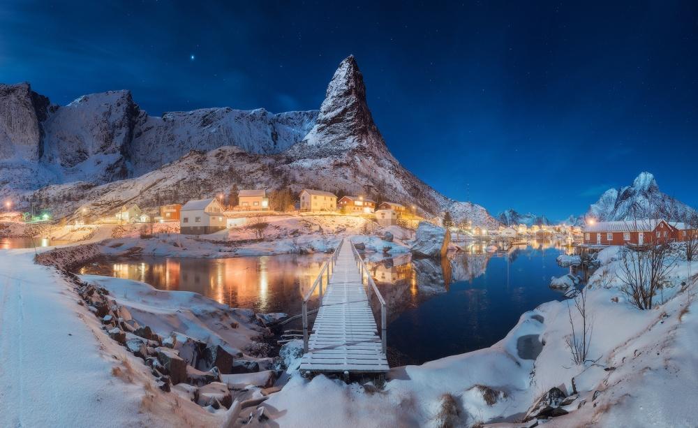 A piece of fine art art photography titled Winter Paradise by Daniel Kordan