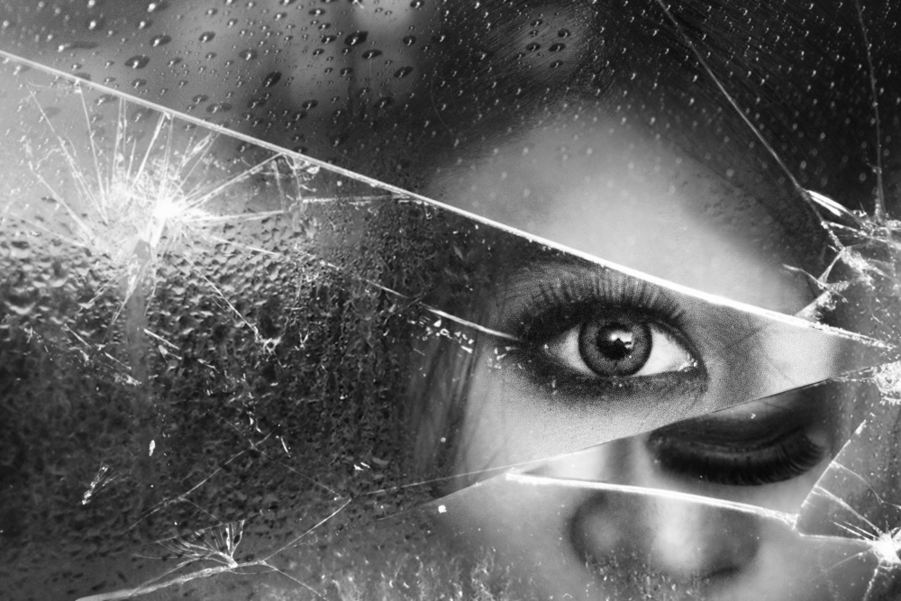 A piece of fine art art photography titled Face of Pieces by Ivan Marlianto