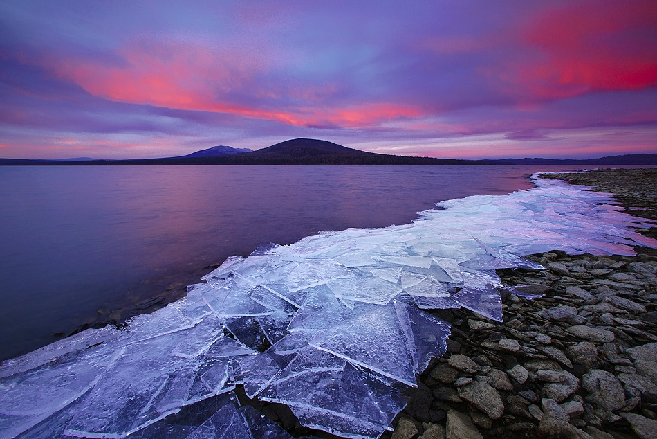 A piece of fine art art photography titled Ice & Fire by Vadim Balakin