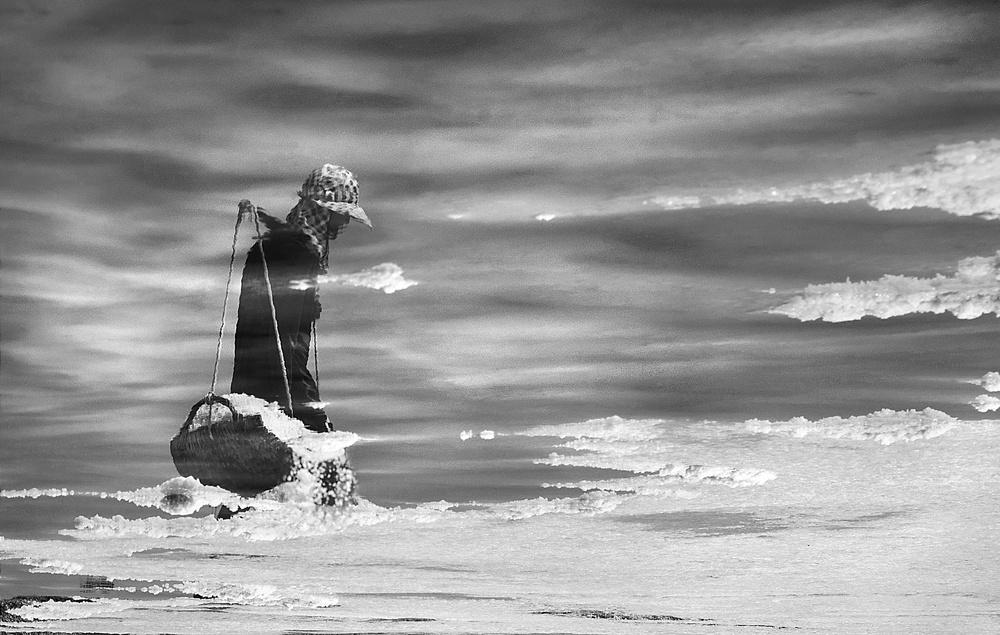 A piece of fine art art photography titled Walk On the Cloud by Ekkachai Khemkum