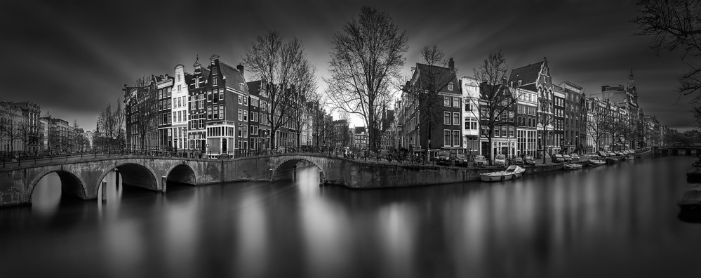 A piece of fine art art photography titled A Tale of the Past I - Keizersgracht Canal Amsterdam by Julia Anna Gospodarou