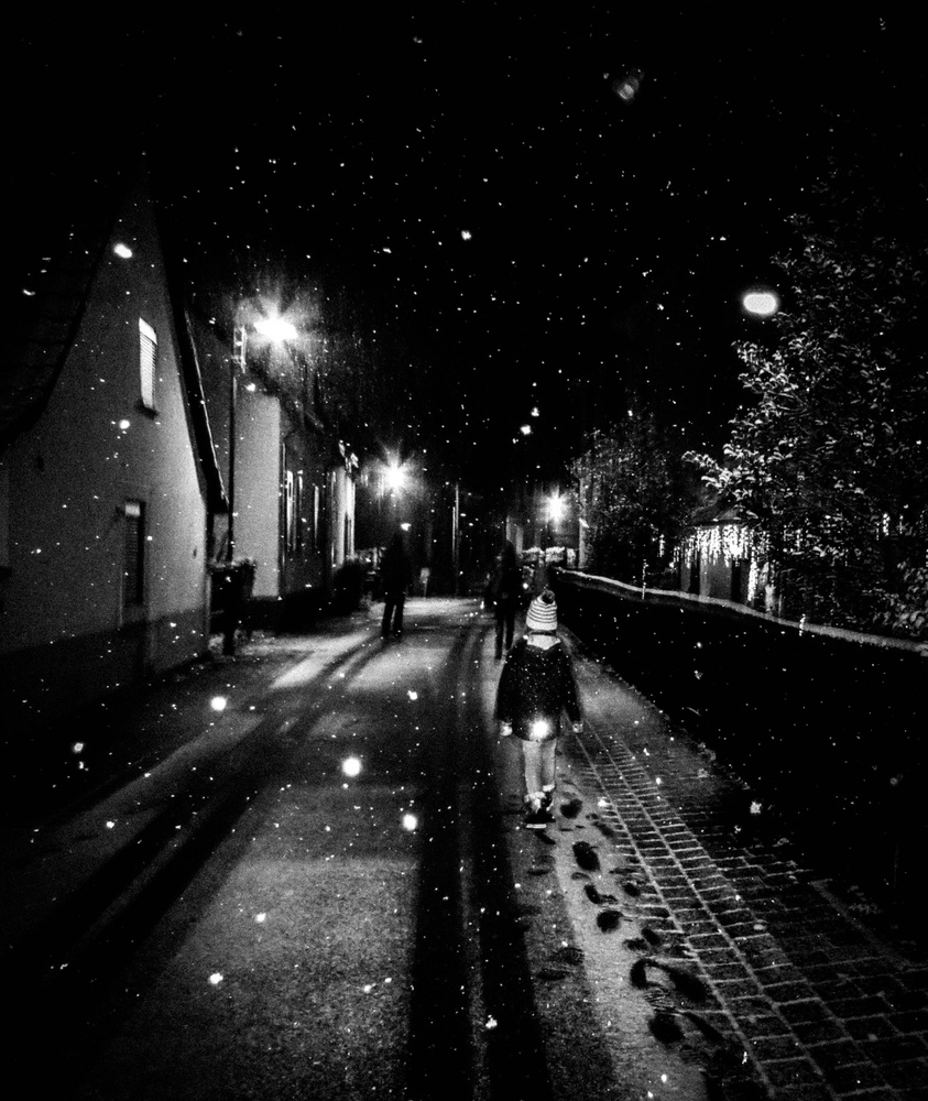 View this piece of fine art photography titled snow by night by Juan López Ruiz