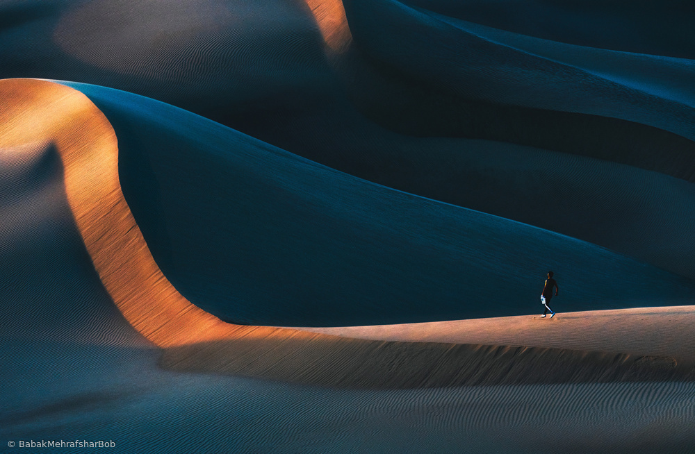 View this piece of fine art photography titled jogging in desert by Babak Mehrafshar (Bob)