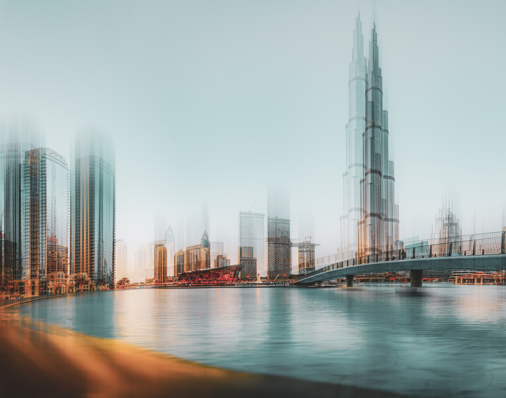 "View this piece of fine art photography titled Dubai - one ""sketch"" by Anette Ohlendorf"