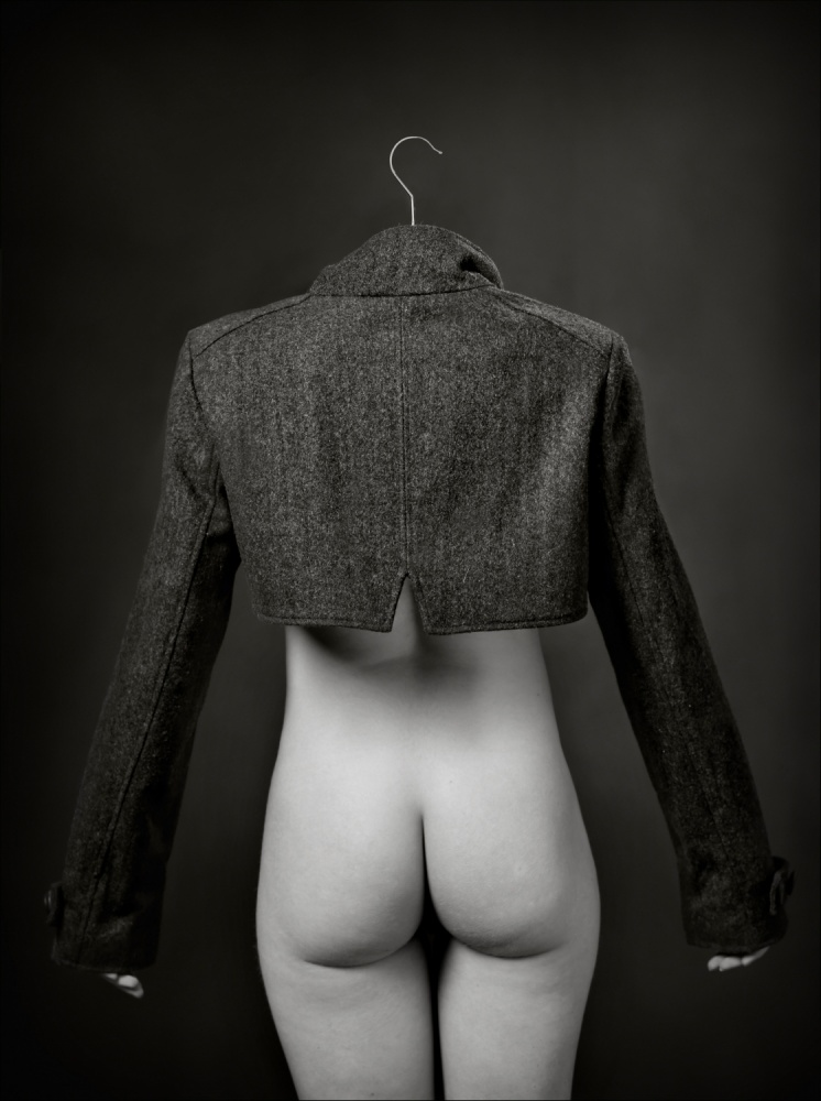 A piece of fine art art photography titled Cheeky Hanger by Ross Oscar