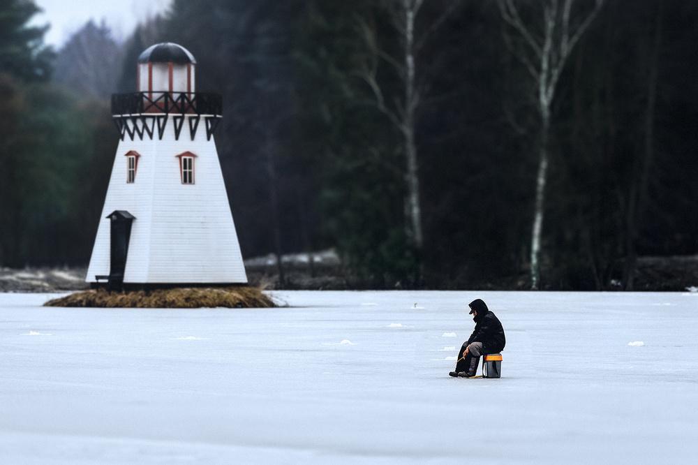 a lone fisherman