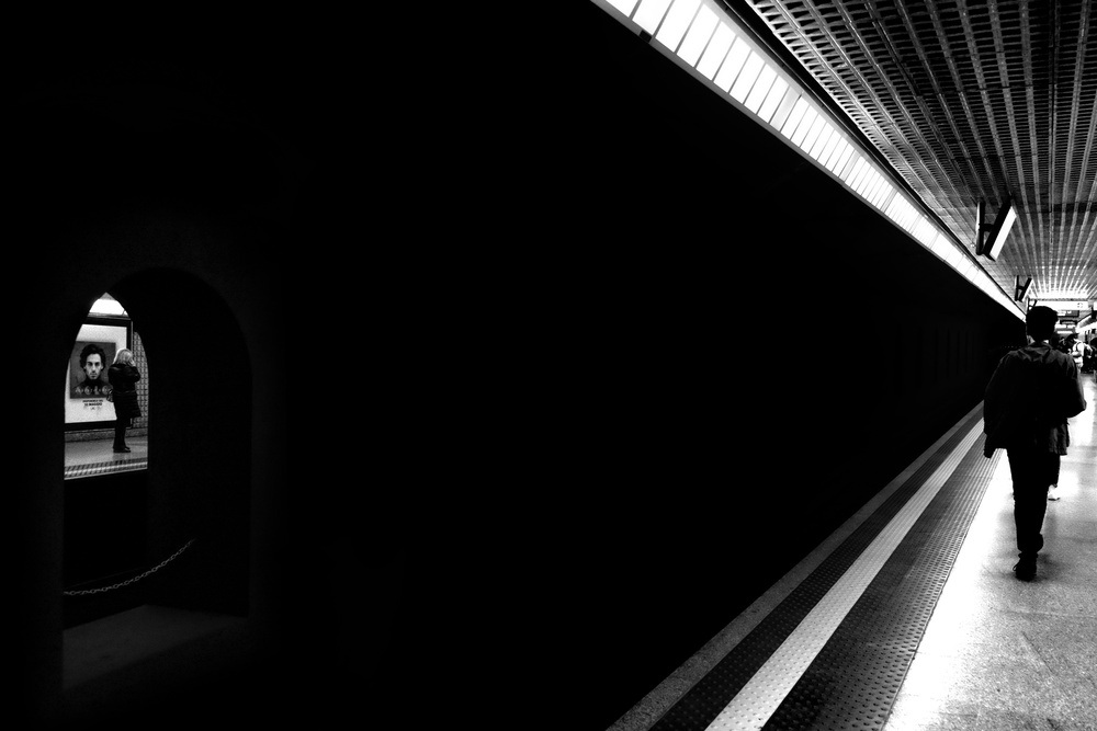A piece of fine art art photography titled Metro by Paulo Medeiros