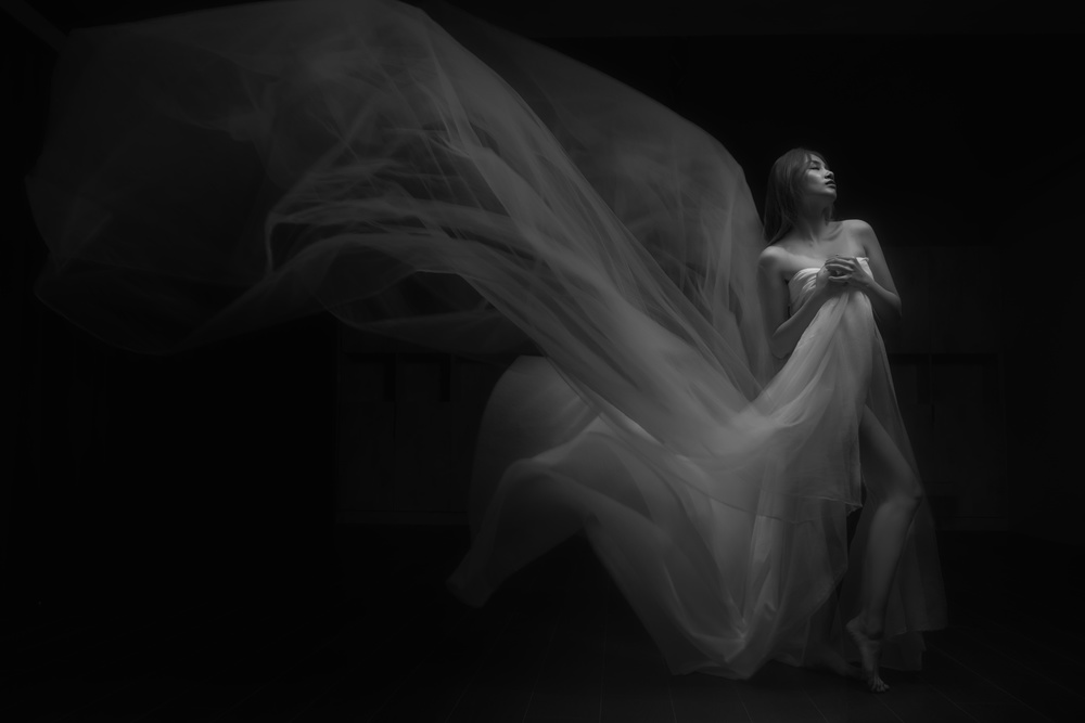A piece of fine art art photography titled Dancing Lady by Mars Khor