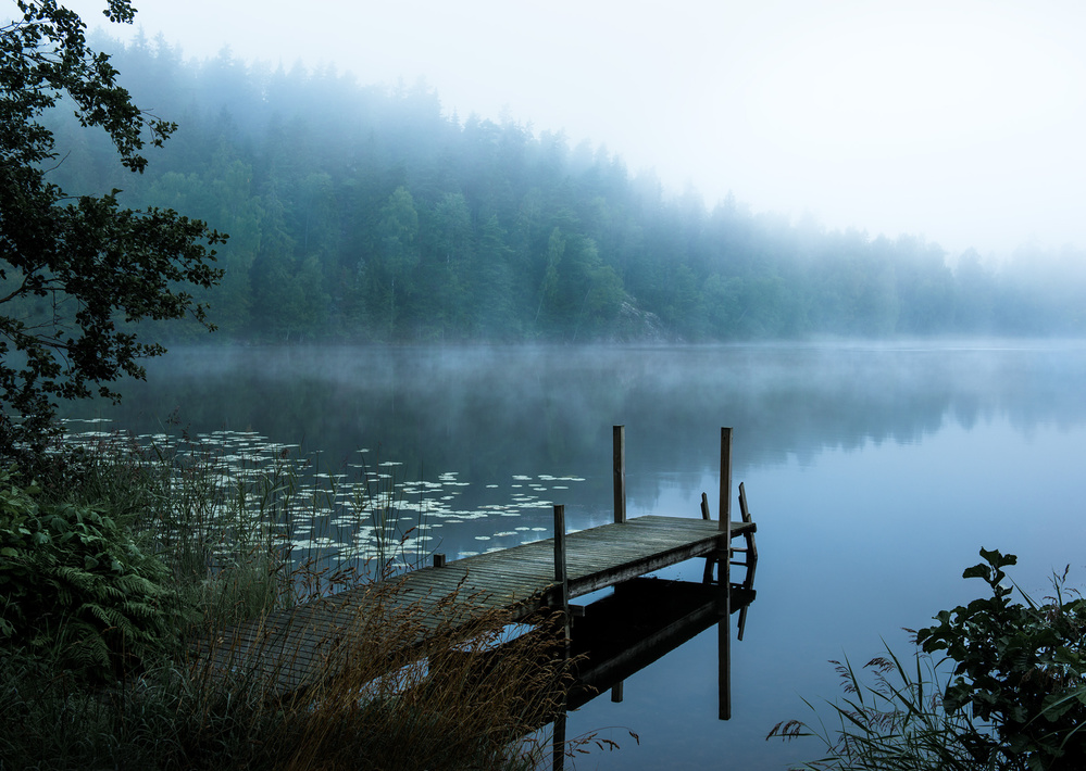 A piece of fine art art photography titled Moody Morning by Christian Lindsten