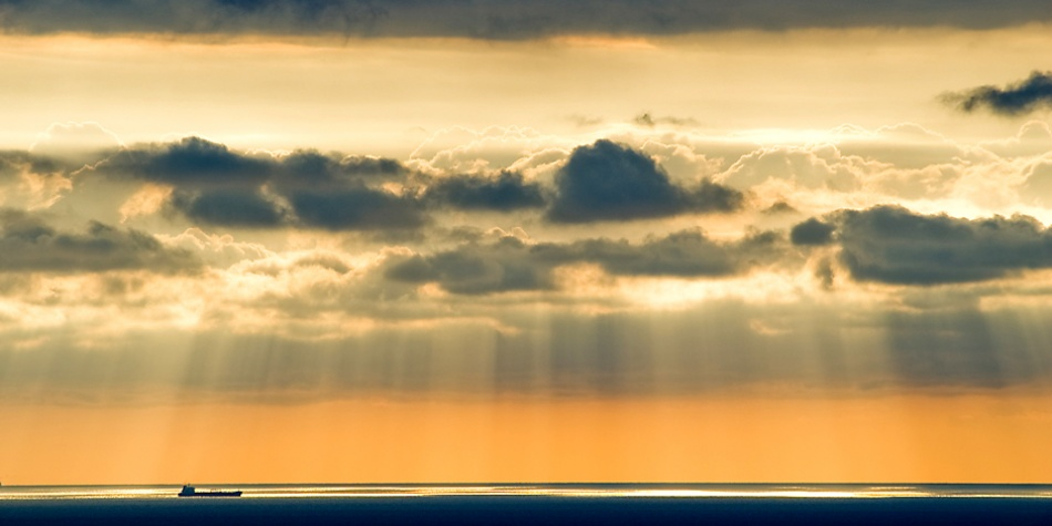 A piece of fine art art photography titled Layers of Light and Clouds by Paolo Giudici