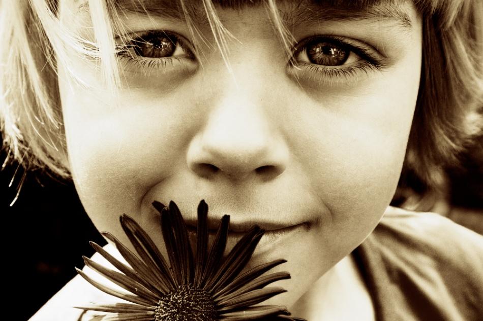 A piece of fine art art photography titled Flower Girl by Sebastian-Alexander Stamatis