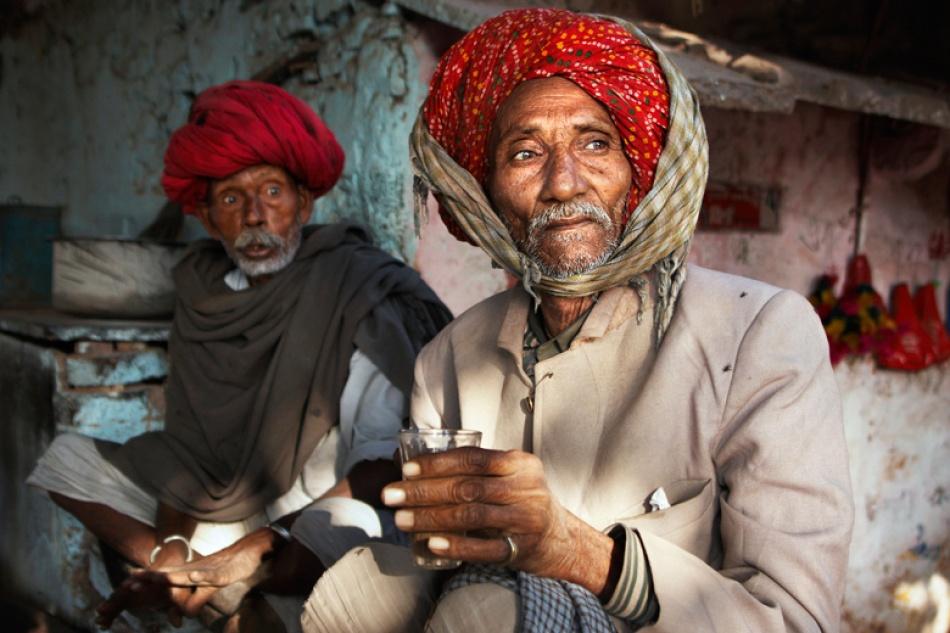 A piece of fine art art photography titled Tea Drinkers by Mitchell Kanashkevich